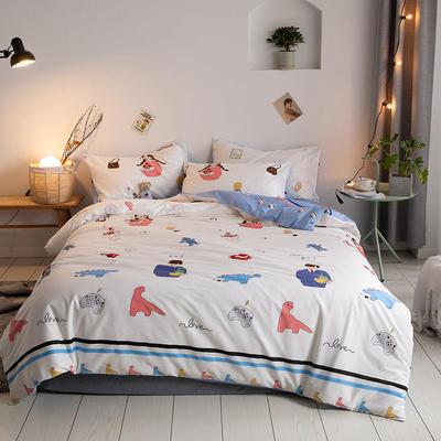 2020新款-【实拍-二次元日系】四件套 床单款三件套1.2m(4英尺)床 无所事事