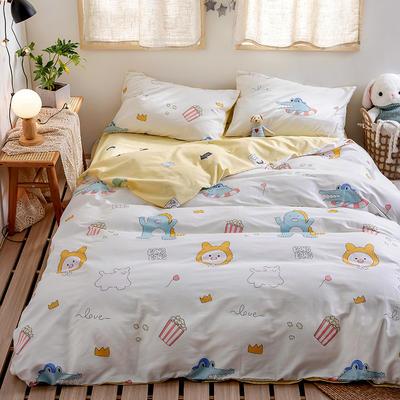 2020新款-日系软萌系列四件套 床单款三件套1.2m(4英尺)床 怪兽家族