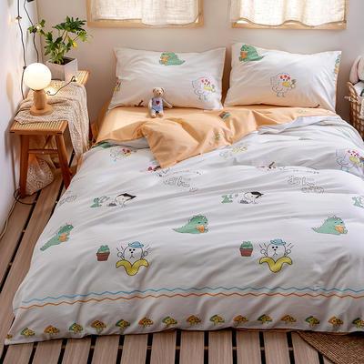 2020新款-日系软萌系列四件套 床单款三件套1.2m(4英尺)床 恐龙君
