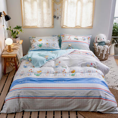 2020新款-日系软萌系列四件套 床单款三件套1.2m(4英尺)床 聊八卦