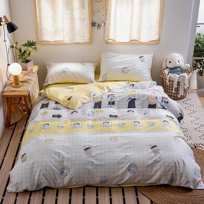 2020新款-日系软萌系列四件套 床单款三件套1.2m(4英尺)床 奶茶乐队