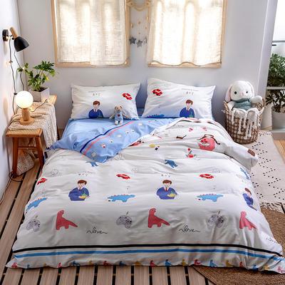 2020新款-日系软萌系列四件套 床单款三件套1.2m(4英尺)床 无所事事