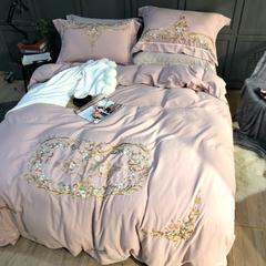 棉麻磨毛绣花四件套 标准(1.5m-1.8m床) 蜜语花香