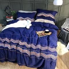 棉麻磨毛绣花四件套 标准(1.5m-1.8m床) 夏梵蒂