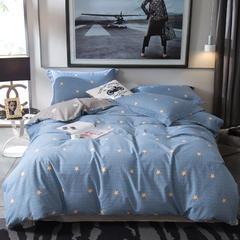 2018新款全棉磨毛四件套 1.5m(5英尺)床 心愿