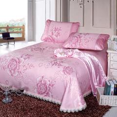 8  潮流水洗床裙系列58款 230*250cm(三件套) Q1国色天香-粉(冰岛丝)