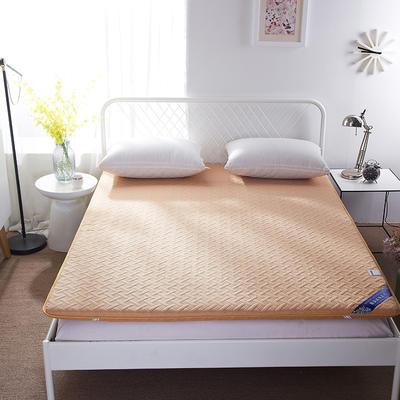磨毛无线绗缝床垫 90*200 驼色