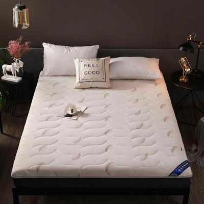2018新款-加厚10cm针织布透气羽毛床垫 90*200cm 针织棉—白色