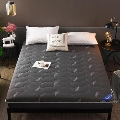 2018新款-加厚10cm针织布透气羽毛床垫 90*200cm 针织棉—灰色