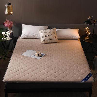 2018新款-水洗彩棉床垫 90*200cm 水洗彩棉—驼