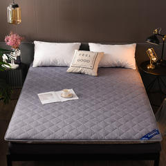 2018新款-水洗彩棉床垫 135*200cm订做 水洗彩棉—灰