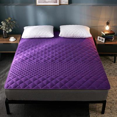2019純色可水洗床墊 90*200 紫色