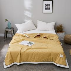 全眠水洗棉纯色夏被 150x200cm 柠檬黄