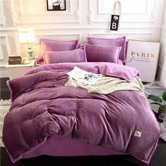 2018多功能法莱绒+羊羔绒单品被套 150x200cm 高贵紫
