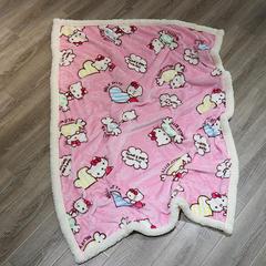 2019春秋新款双层牛奶羊羔绒童毯 1X1.4 粉KT