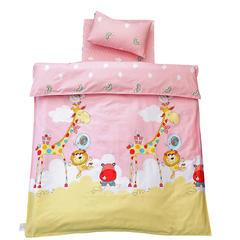 儿童产品 幼儿园儿童三件套 被套+垫套+枕套 彩虹动物园