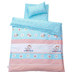 儿童产品 幼儿园儿童三件套 被套+垫套+枕套 贪吃小猴