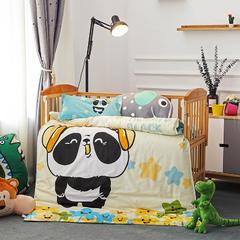 幼儿园大版花多件套 丝绵款六件套 动感熊猫