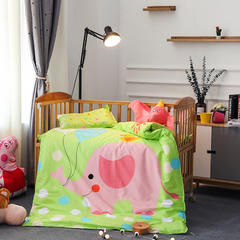 幼儿园大版花三件套 被套+垫套+枕套 可爱小象