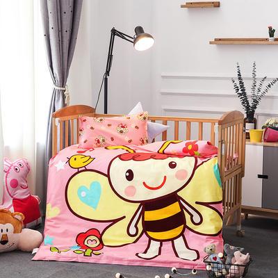 幼儿园大版花多件套 棉花加厚款六件套 小蜜蜂