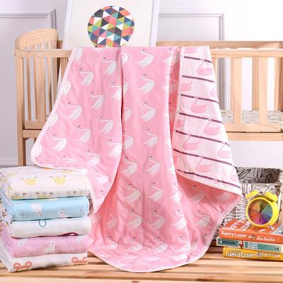 婴儿用品 6层纱布110*110cm 小天鹅