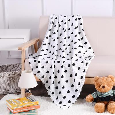 婴儿用品 2层纱布120*120cm 爱心