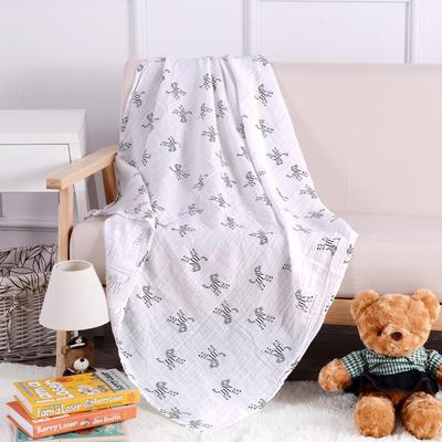 婴儿用品 2层纱布120*120cm 斑马