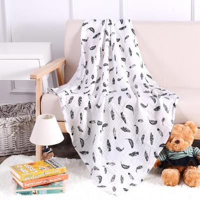 婴儿用品 2层纱布120*120cm 羽毛