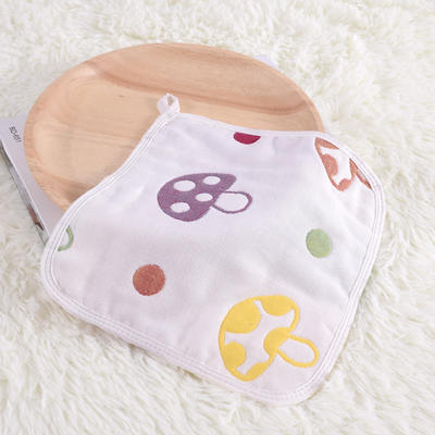 婴儿用品 方巾26*26cm 蘑菇