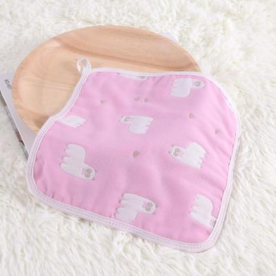 婴儿用品 方巾26*26cm 羊驼-粉