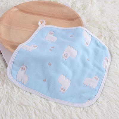 婴儿用品 方巾26*26cm 羊驼-蓝