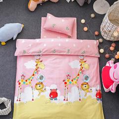 悦童家纺133x72儿童幼儿园三件套 丝绵款六件套 彩虹动物园