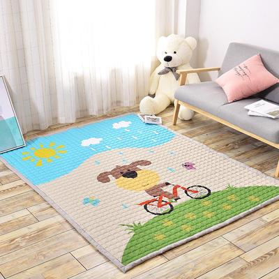 悦童家纺地垫、瑜伽垫 145*195cm 单车少年