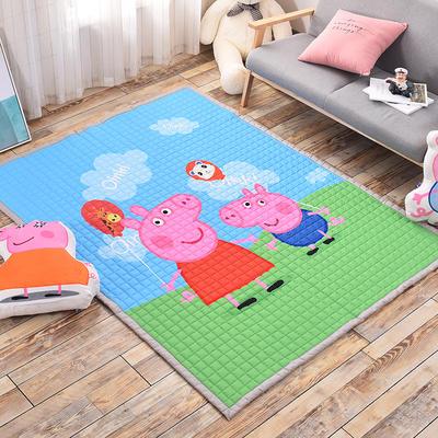 悦童家纺地垫、瑜伽垫 145*195cm 小猪佩琪