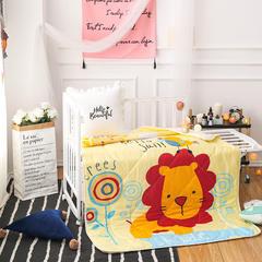 悦童家纺儿童可脱卸内胆夹棉两用水洗棉花被(120X150CM) 夹棉被套/件 丛林狮子