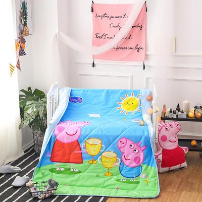 悦童家纺儿童可脱卸内胆夹棉两用水洗棉花被(120X150CM) 夹棉被套/件 干杯佩奇