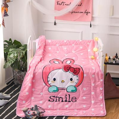 悦童家纺儿童可脱卸内胆夹棉两用水洗棉花被(120X150CM) 夹棉被套/件 微笑猫咪