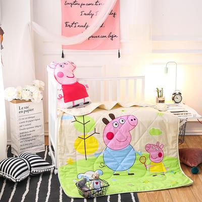 悦童家纺儿童可脱卸内胆夹棉两用水洗棉花被(120X150CM) 夹棉被套/件 小猪佩奇