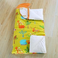 悦童家纺大森林睡袋(棉花厚薄双胆款) 动物王国(78X150)