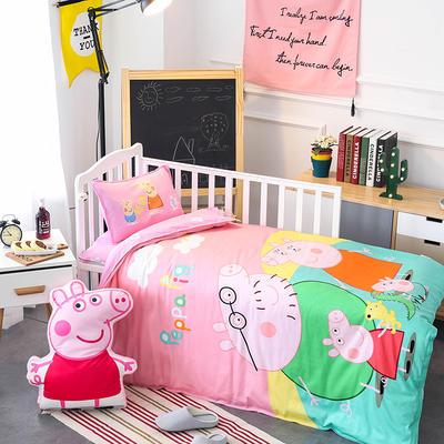 悦童大版儿童幼儿园三件套(单品) 枕套30X50cm 佩奇一家