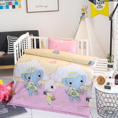 悦童大版儿童幼儿园三件套(单品) 枕套30X50cm 兔子小象