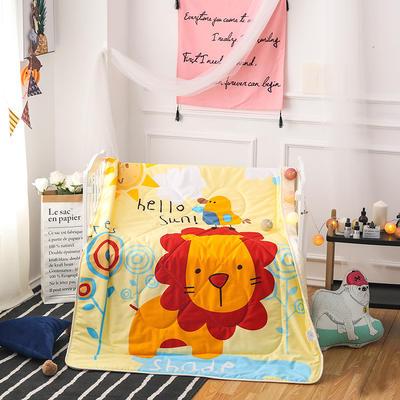 悦童家纺大版花全棉儿童夏被 120x150cm 丛林狮子
