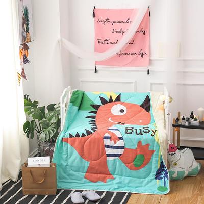 悦童家纺大版花全棉儿童夏被 120x150cm 大恐龙