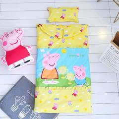 小猪佩奇版防踢被睡袋(丝棉款) 佩佩猪黄78X150