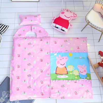小猪佩奇版防踢被睡袋(棉花厚薄双胆款) 佩佩猪 红65X100