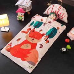 北欧暖绒睡袋款(单被套) 乖萌狐折叠尺寸80*135