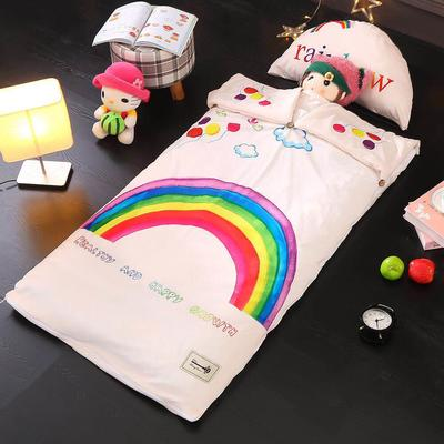 北欧暖绒睡袋款(棉花薄款) 七色彩虹折叠尺寸80*135
