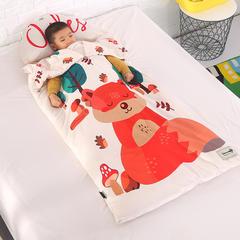 北欧暖绒睡袋款(棉花双胆款) 乖萌狐折叠尺寸80*135