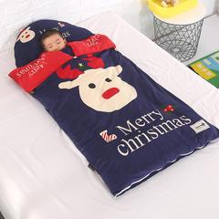 北欧暖绒睡袋款(棉花双胆款) 圣诞快乐折叠尺寸80*135