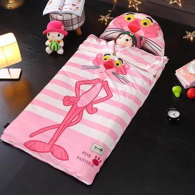 北欧暖绒睡袋款(棉花双胆款) 粉红豹折叠尺寸80*135